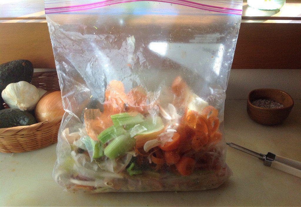 Veggie scrap bag