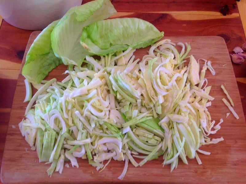 Expertly shredded cabbage