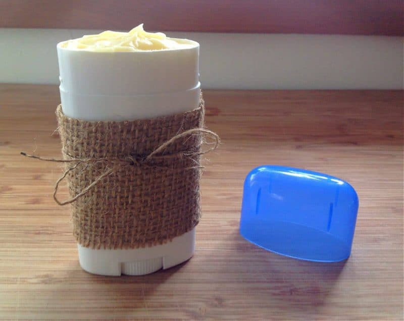 homemade deodorant in a deodorant tube