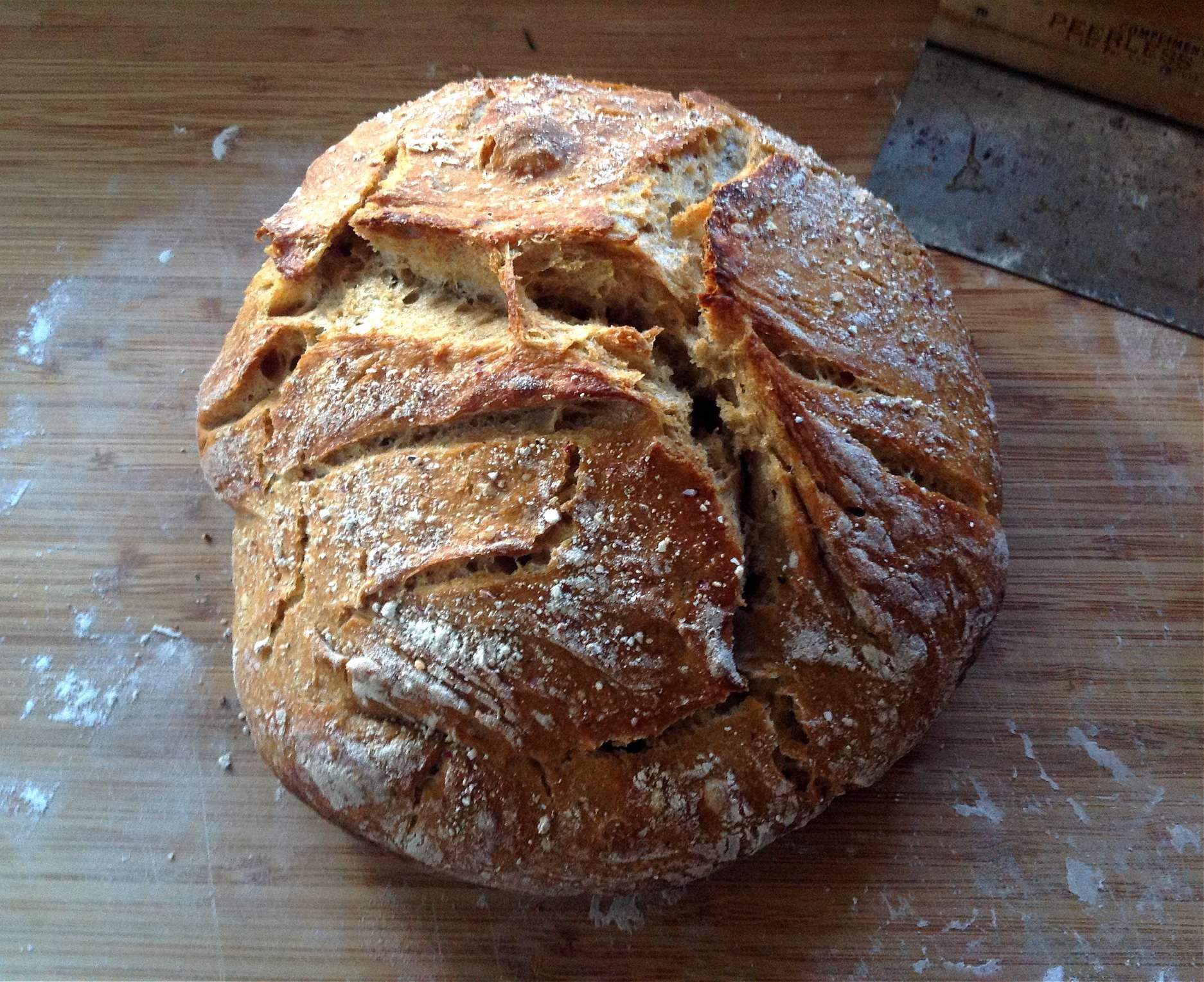 No Knead Sourdough Bread Recipe