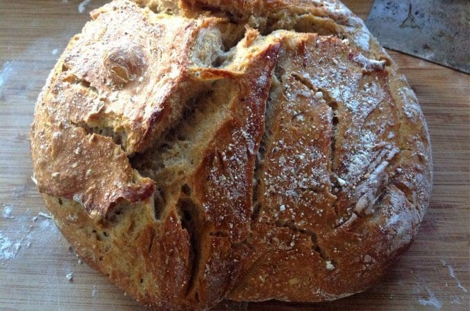 no knead sourdough bread
