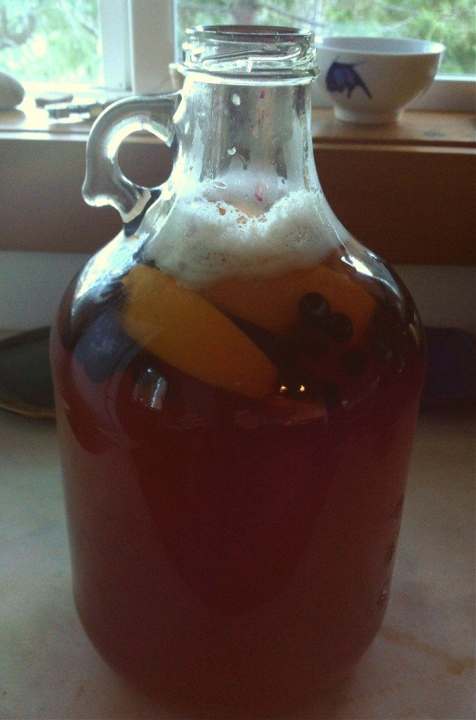 homemade mead recipe in a one gallon jug