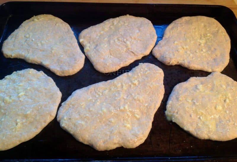 homemade sourdough naan