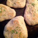 sourdough garlic naan