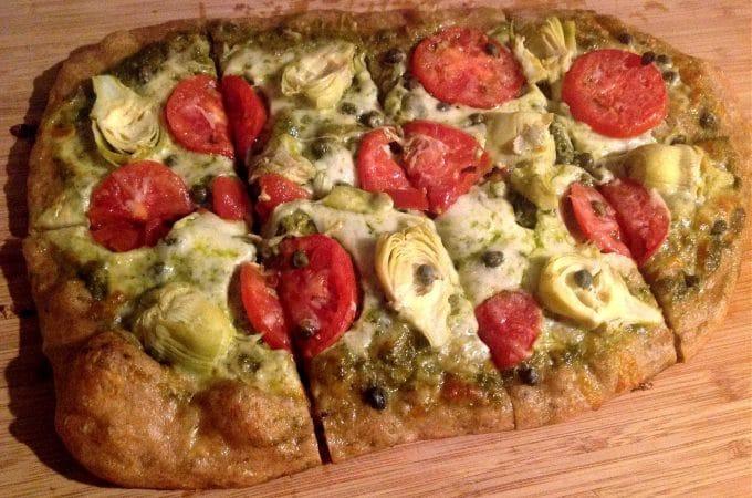 no knead sourdough pizza