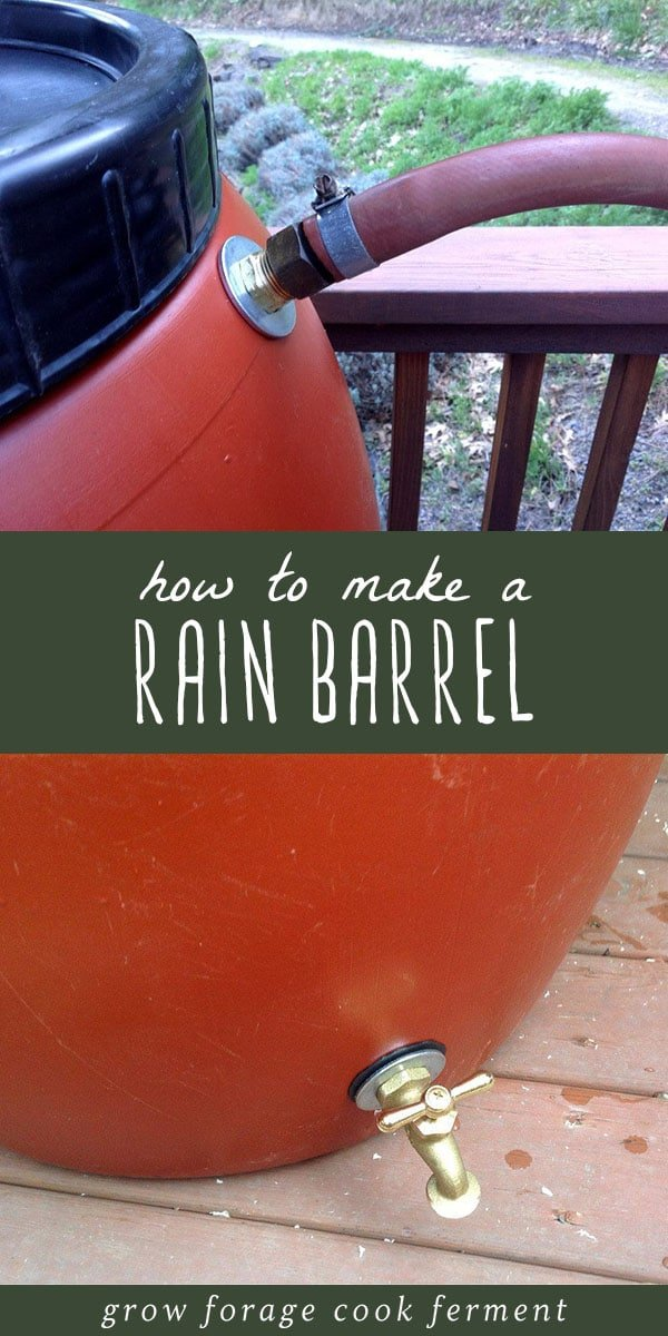 Spring is coming, and that means rain! Time to start collecting your own rainwater. In this post you'll learn how to make an easy DIY rain barrel for collecting and store rainwater. #homesteading #diy