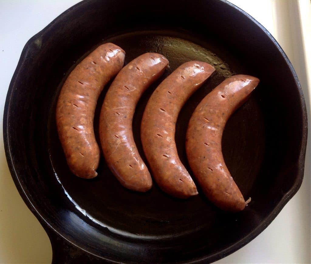 browning sausages