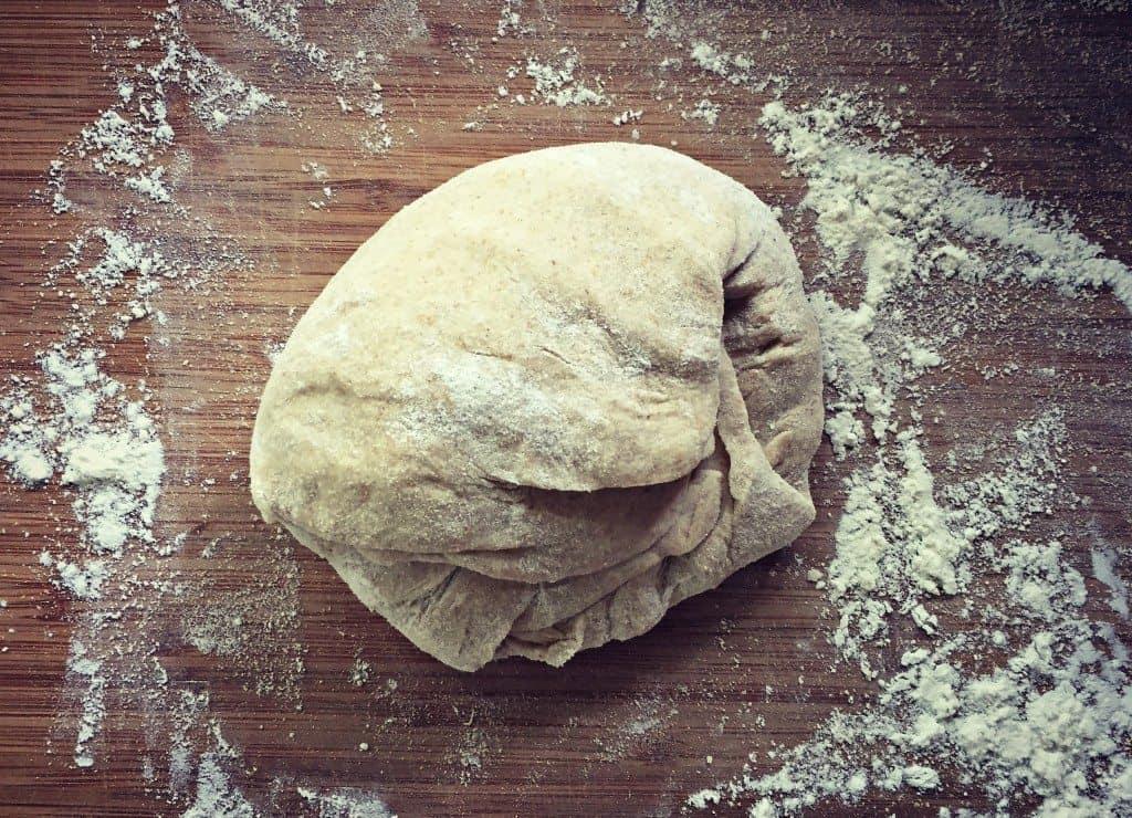 sourdough tortilla dough