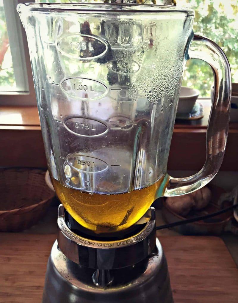 calendula oil in a blender