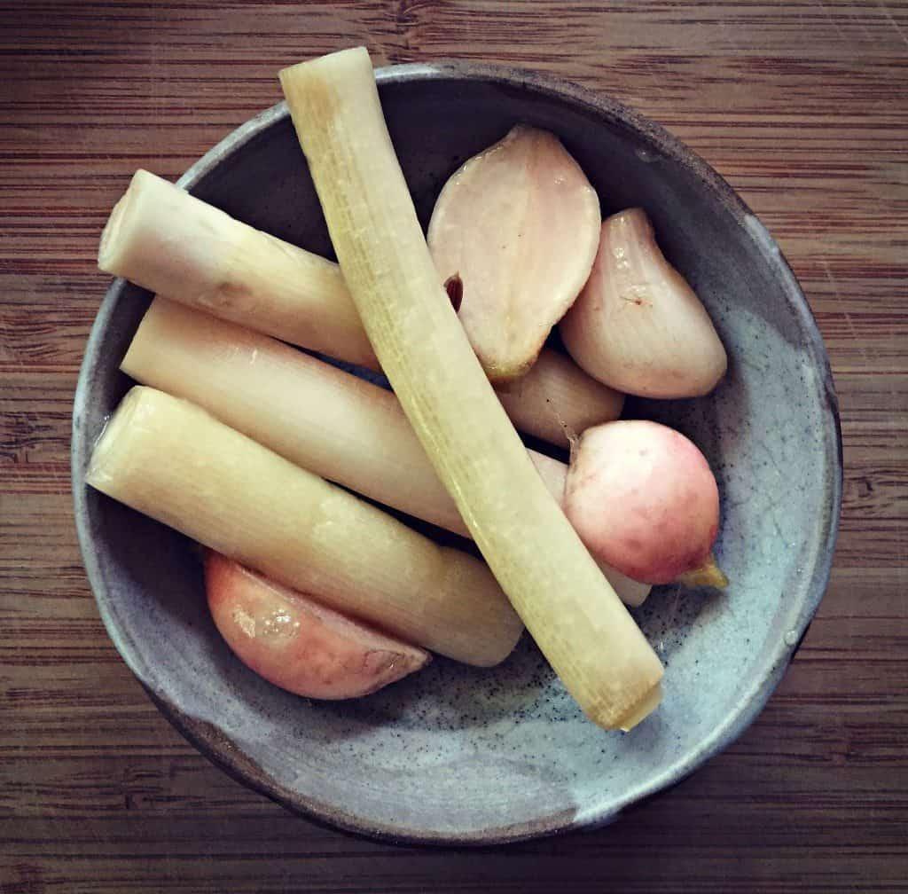 cattail pickles bowl