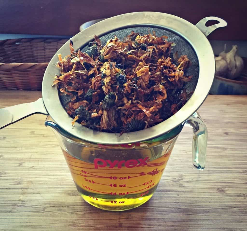 strain calendula infused oil