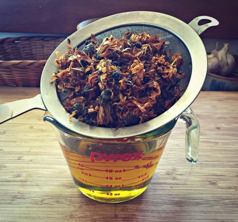 strain calendula infused oil