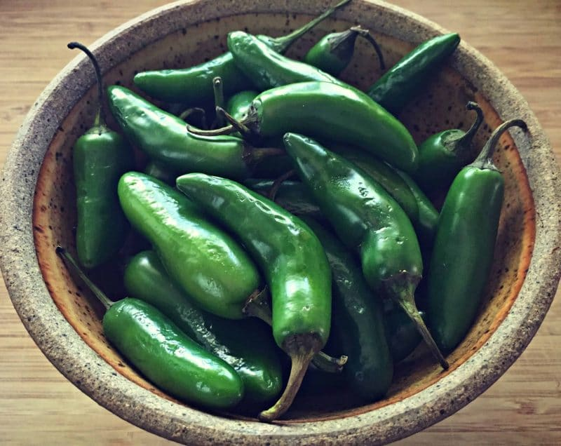 jalapenos in bowl