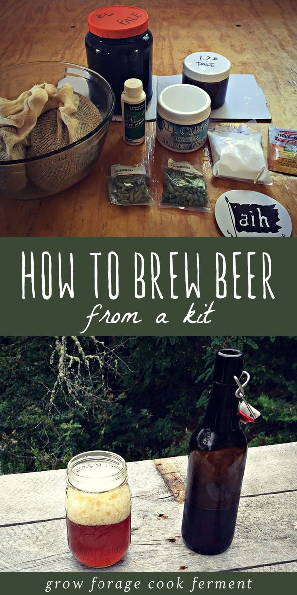 Have you ever wanted to brew your own beer at home? Brewing beer can be complicated, but here's how to brew beer from a kit, which is relatively easy! Click through for my step by step tutorial on brewing beer the easy way - from a kit! #homebrew #beer
