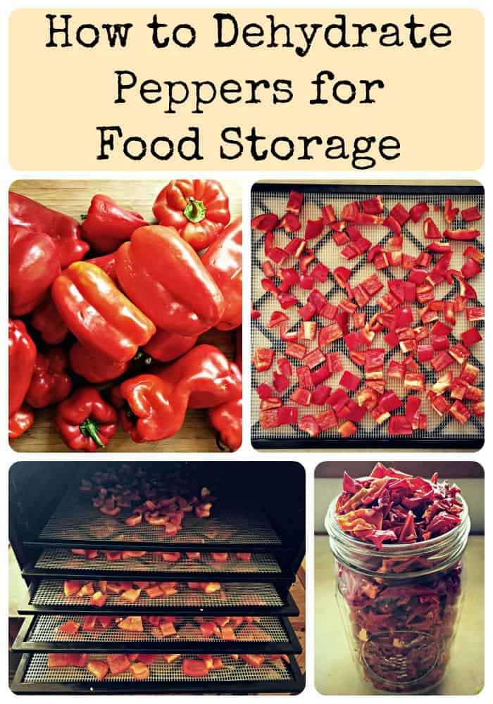 dehydrate peppers collage