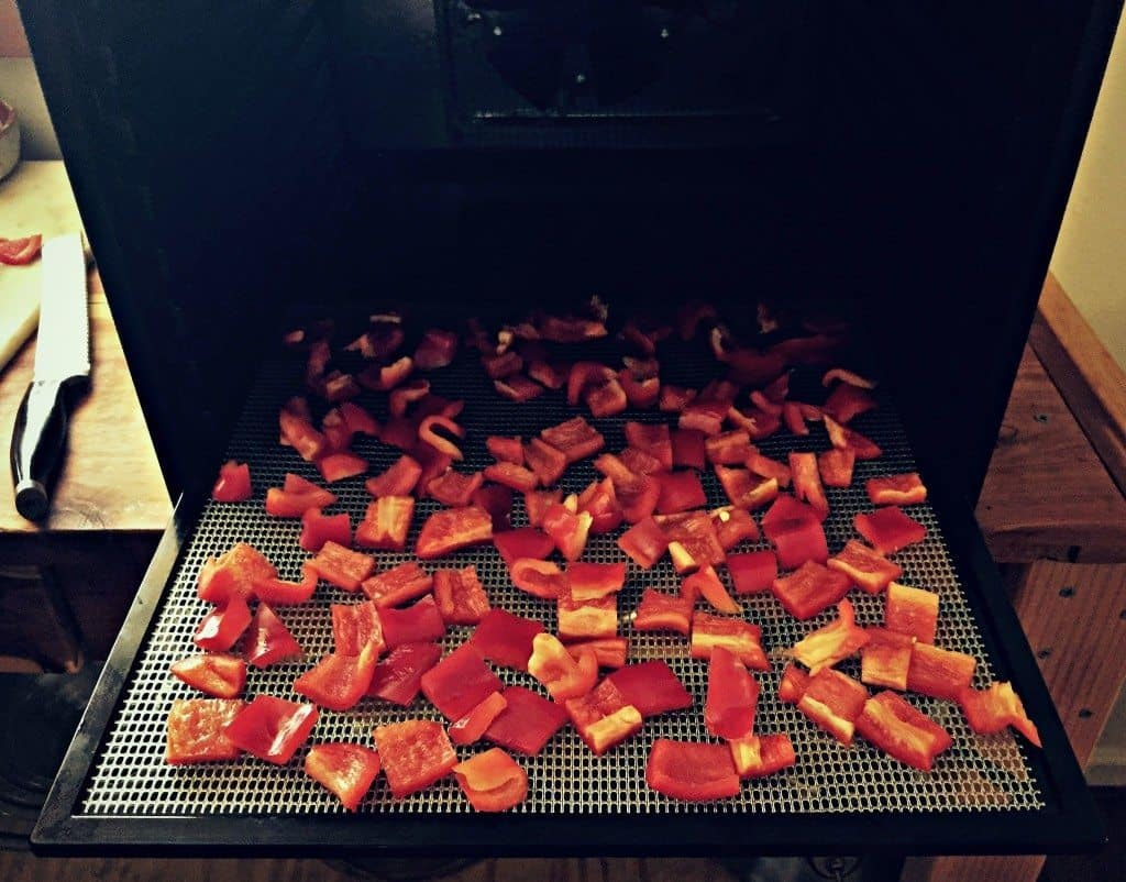 peppers in dehydrator