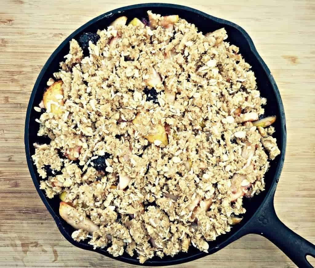 add crumble to fruit