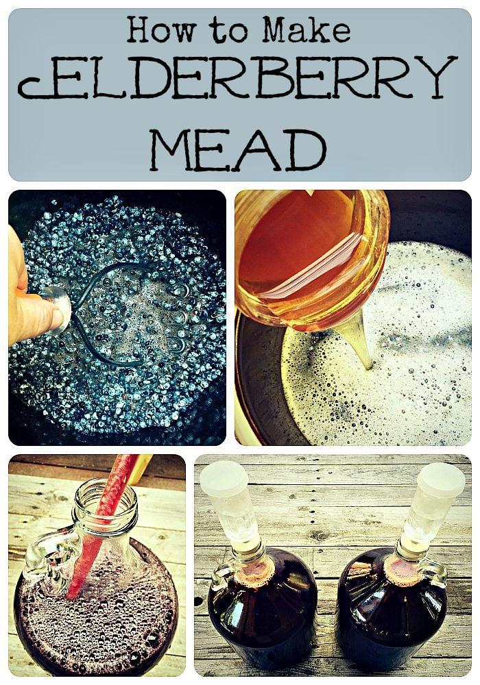 elderberry mead collage