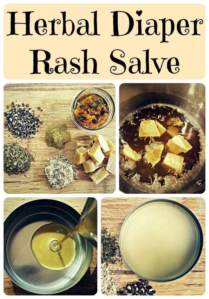 herbal diaper rash salve collage