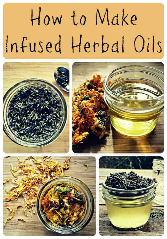 infused oils collage