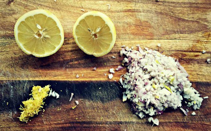 lemon and shallots