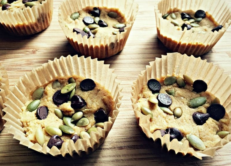 pumpkin coconut cups in muffin tin liners