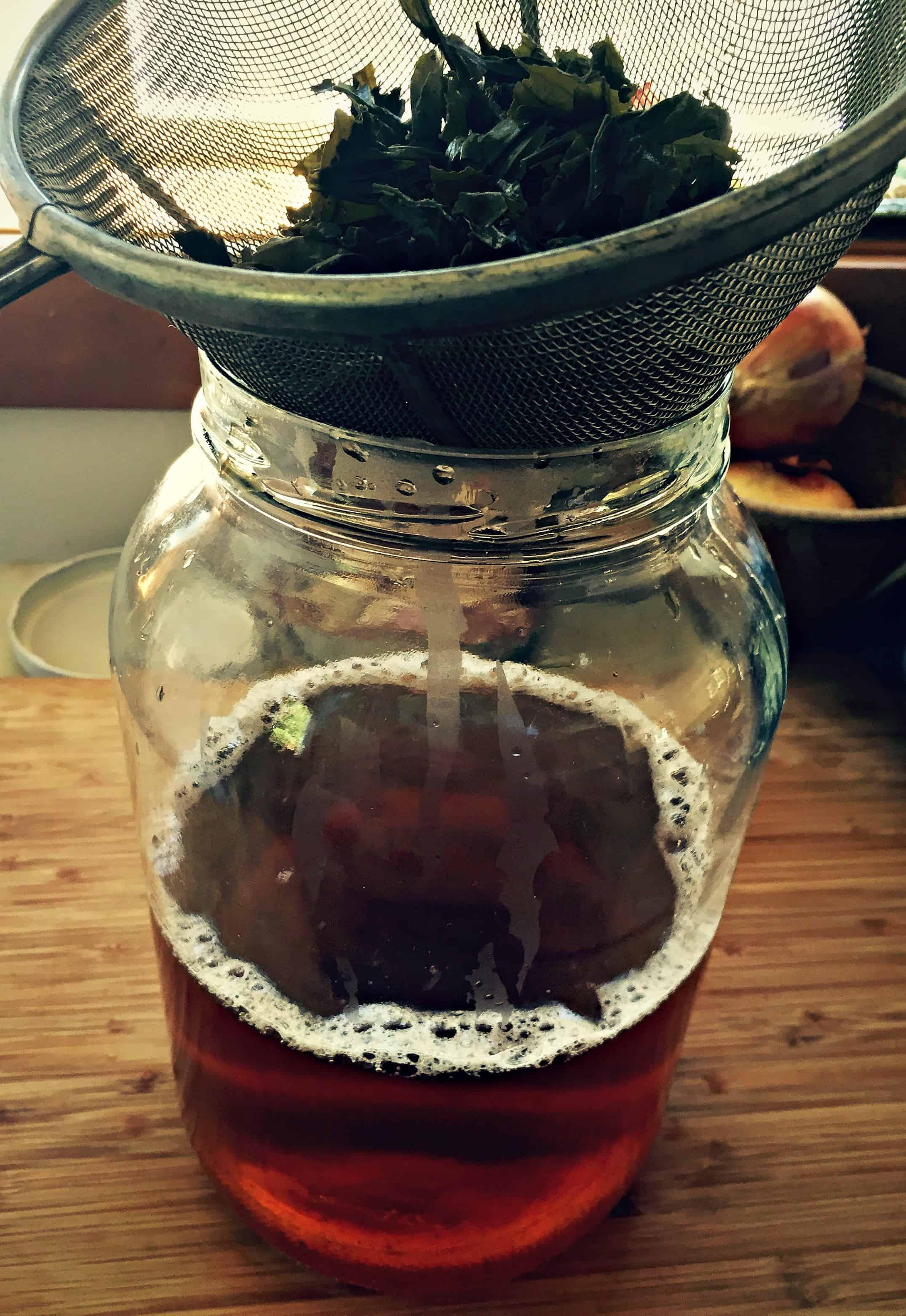 strain green tea