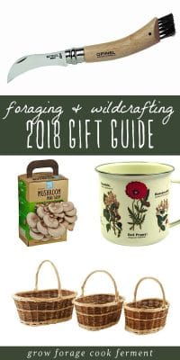 A collage of gift ideas for foragers and wildcrafting enthusiasts.