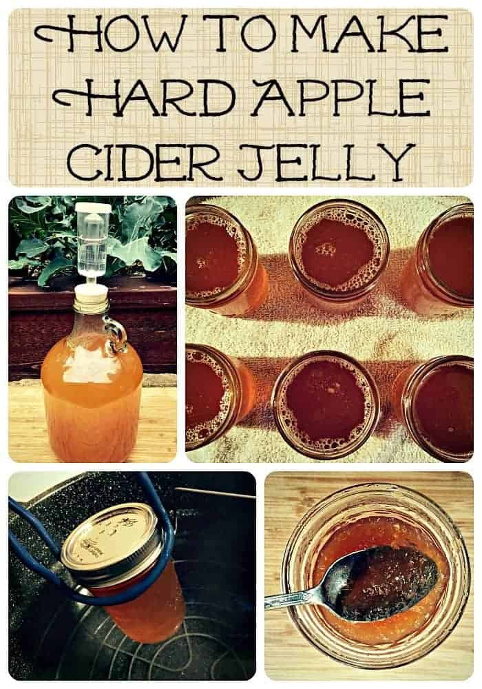 hard cider jelly collage