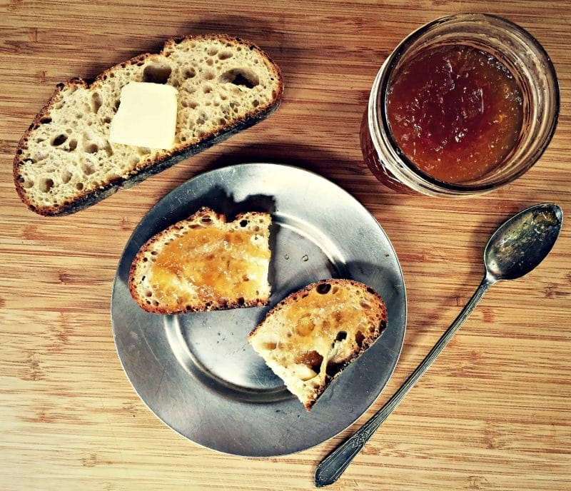 hard cider jelly on toast