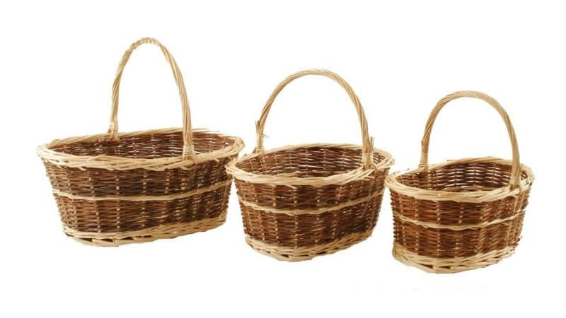 Two Tone Willow Baskets