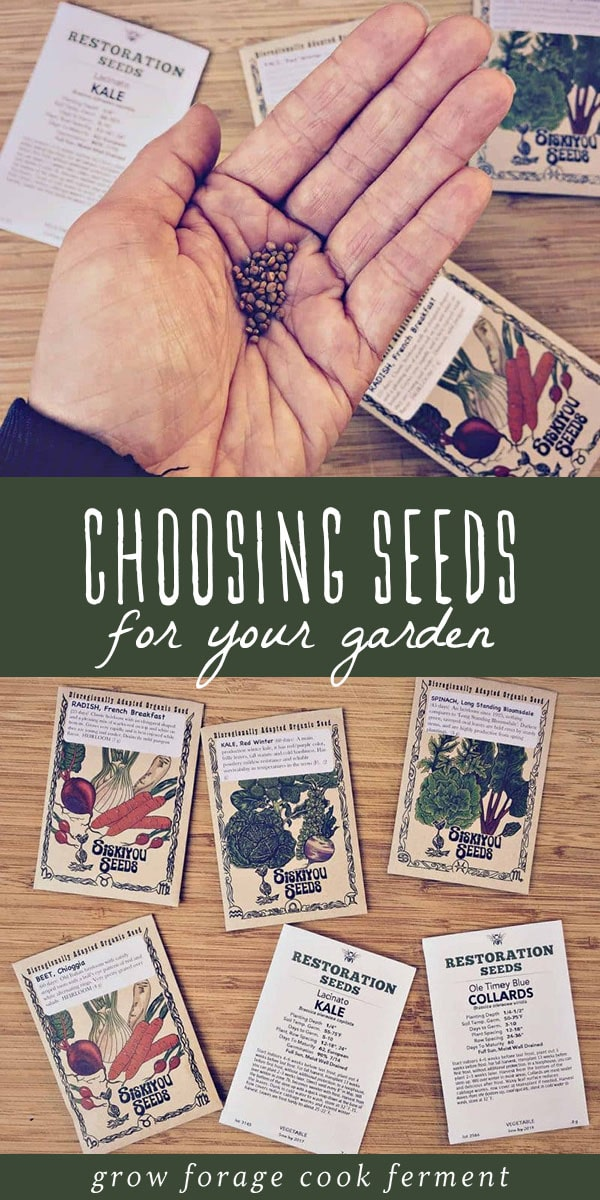 When it's time to buy seeds, sometimes the choices can be overwhelming. Here's a guide for choosing the right ones for your backyard garden! #gardening #growing
