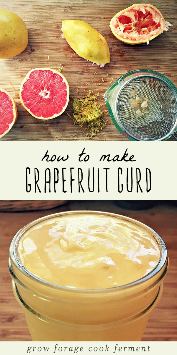 Homemade grapefruit curd is delicious, easy to make, and a wonderful way to preserve citrus. Learn how to make and use this homemade grapefruit curd recipe. #grapefruit #citrus #winter #realfood #recipe