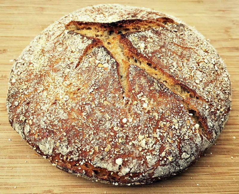 no knead sourdough rye bread