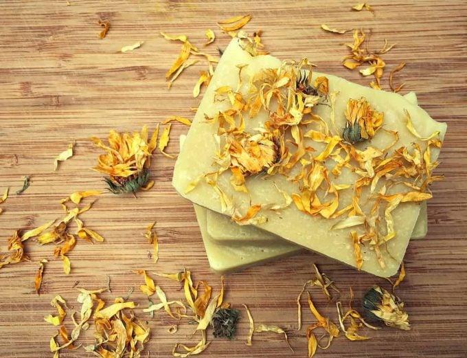 homemade calendula soap