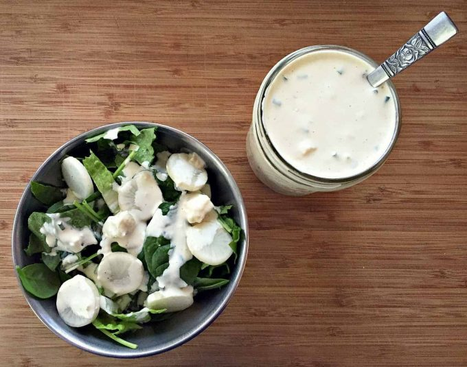 homemade blue cheese salad dressing