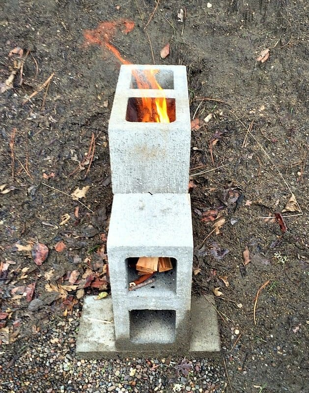 rocket stove fire