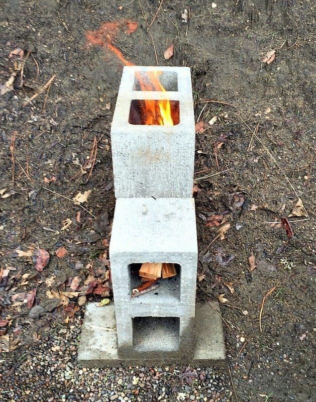 rocket stove fire