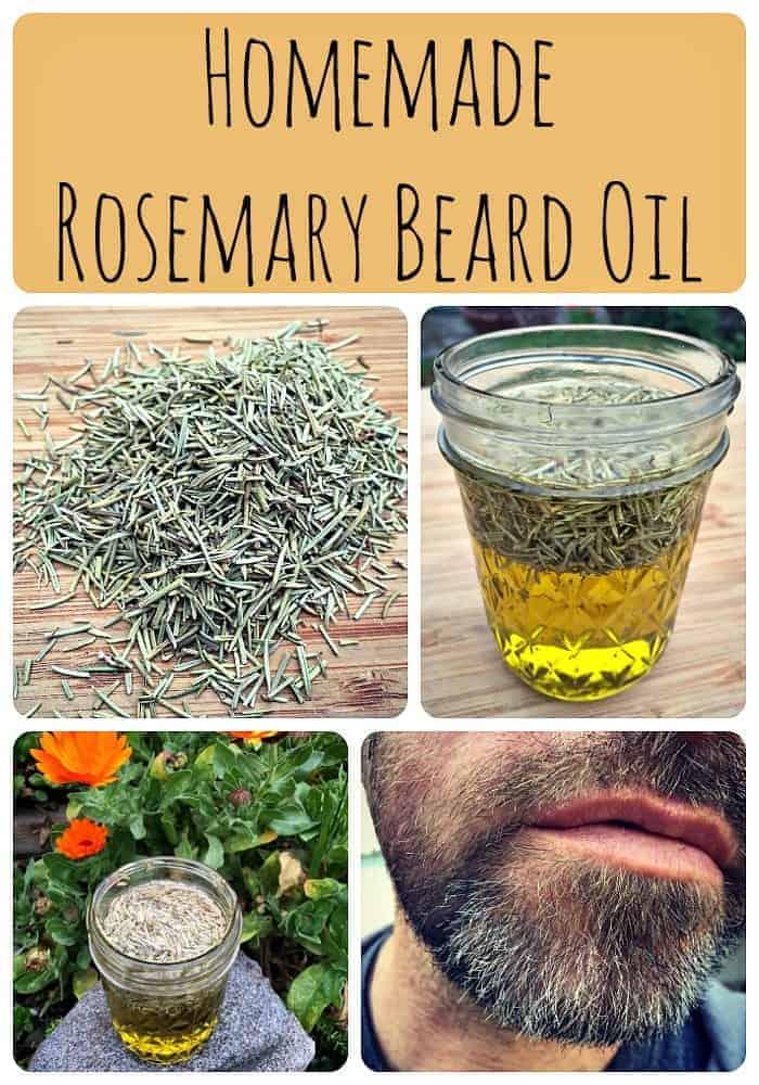 Homemade Rosemary Beard Oil