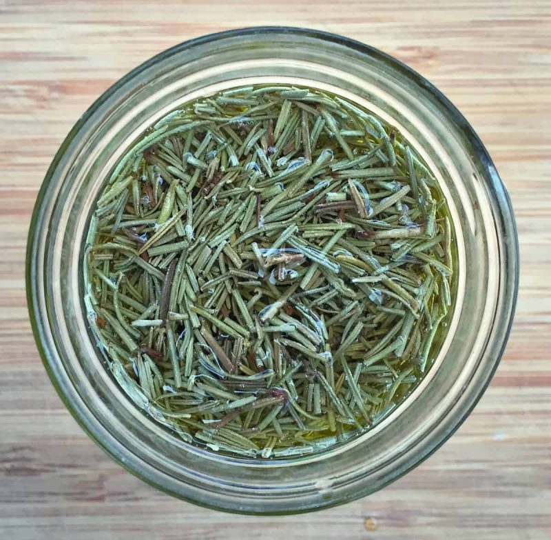 dried rosemary in oil
