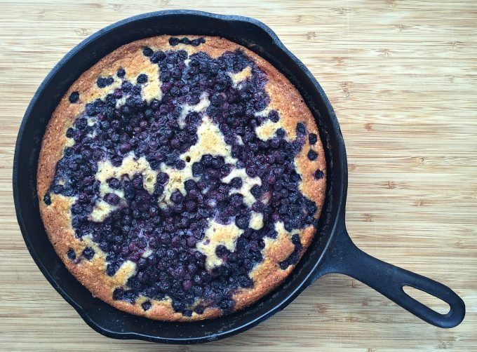 Pear And Blackberry Cornmeal Cake