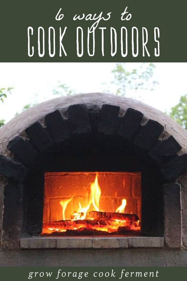 An outdoor wood burning oven for cooking food without charcoal.