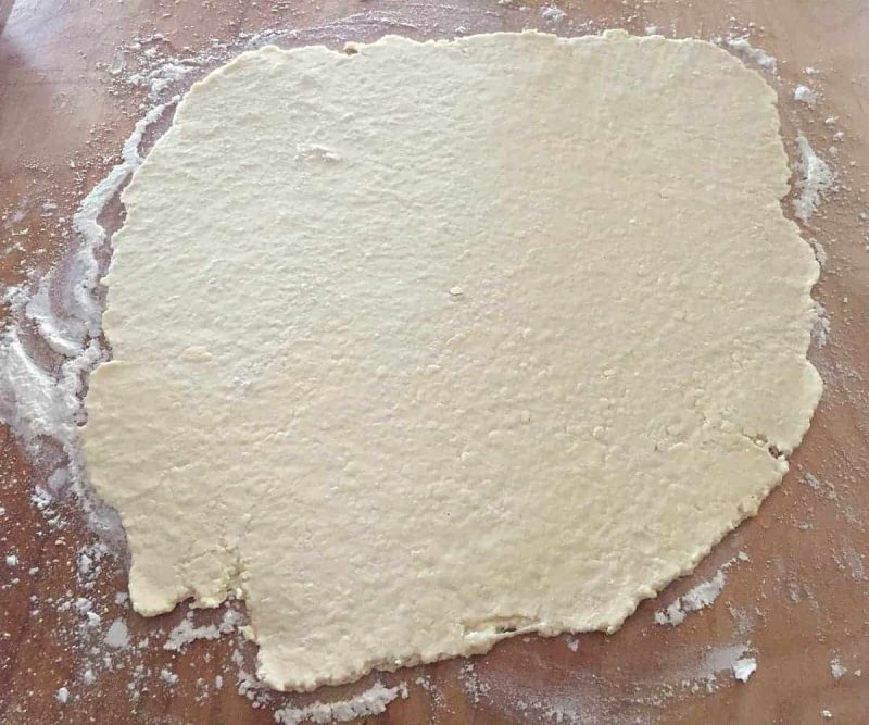 rolled out galette dough