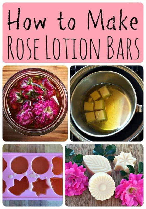 How to Make Rose Lotion Bars