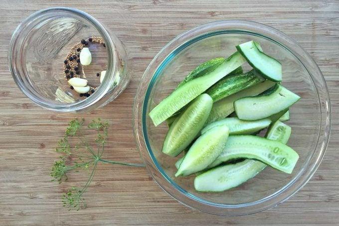 making refrigerator pickles