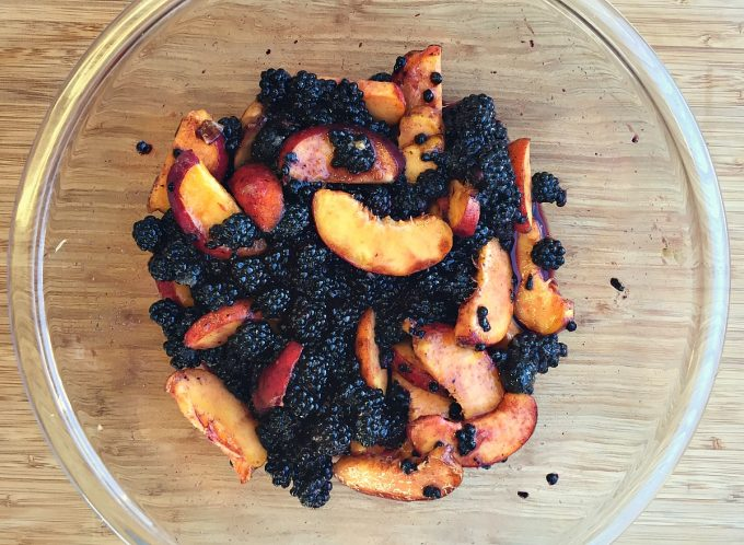 peaches blackberries