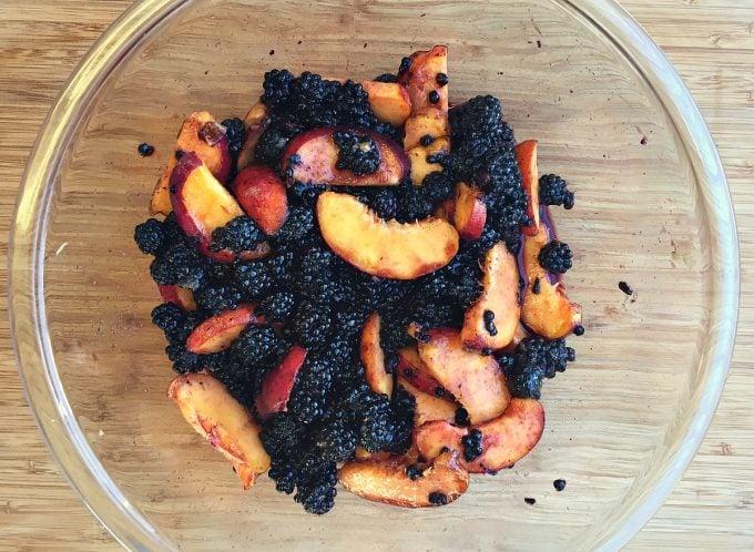 peaches blackberries