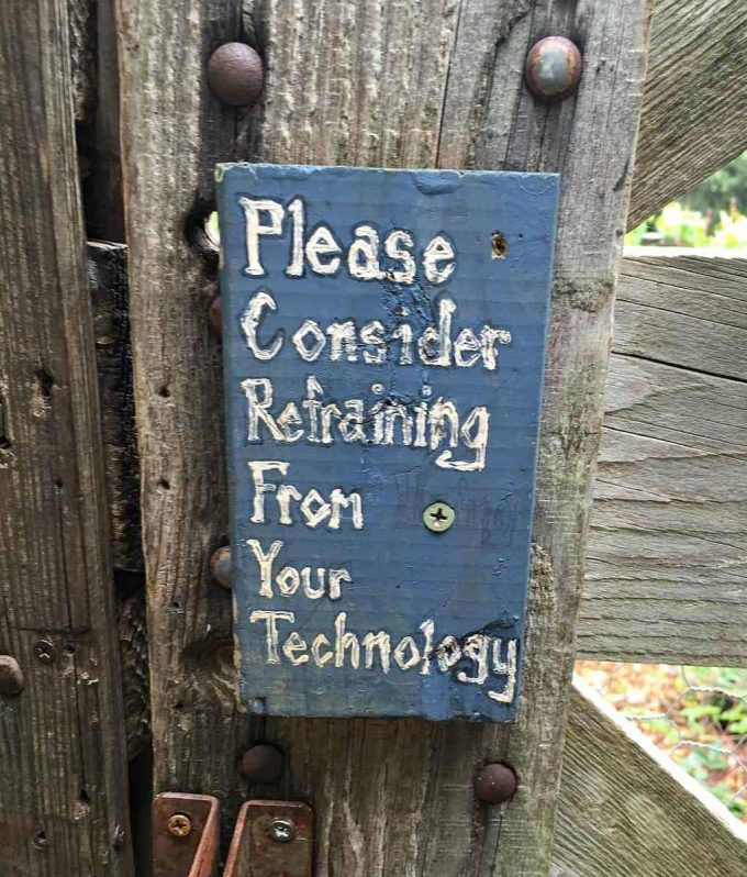refrain from technology