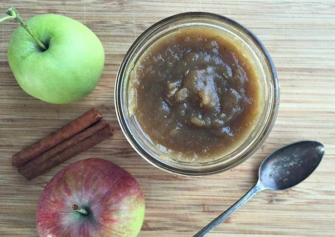 homemade spiced apple butter