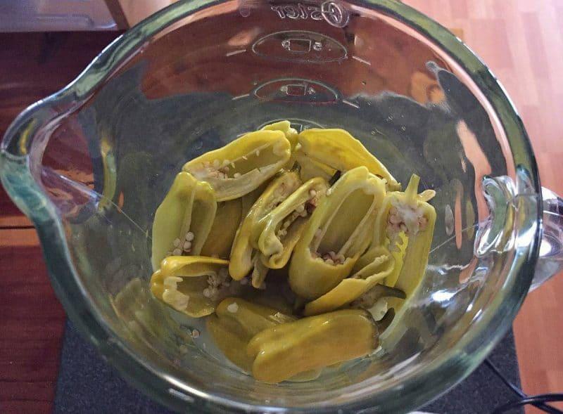 fermented pepperoncini peppers in blender